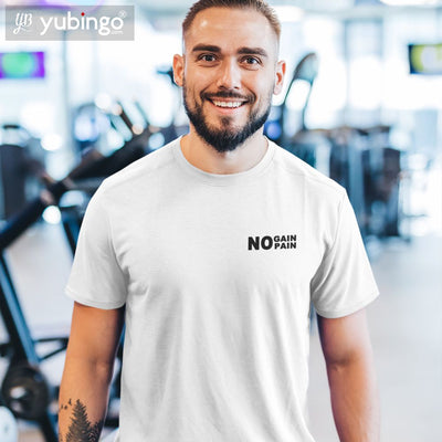 No Pain No Gain T-Shirt-White