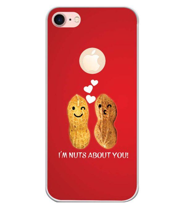 Nuts About You Back Cover for Apple iPhone 7 (Logo)-Image3