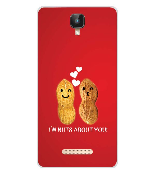 Nuts About You Soft Silicone Back Cover for Intex Aqua Lions 2 4G