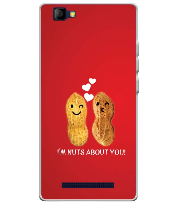 Nuts About You Soft Silicone Back Cover for Lyf Wind 7S
