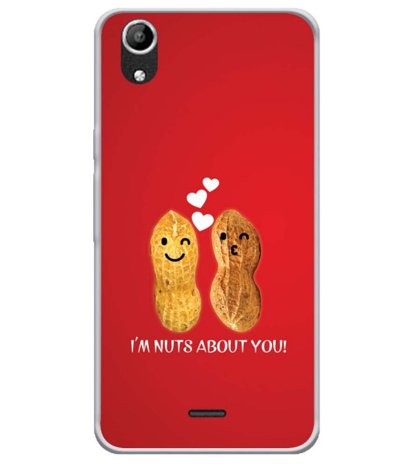 Nuts About You Soft Silicone Back Cover for Micromax Selfie Lens Q345