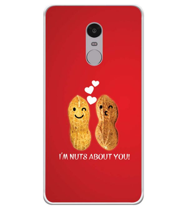 Nuts About You Soft Silicone Back Cover for Xiaomi Redmi Note 4