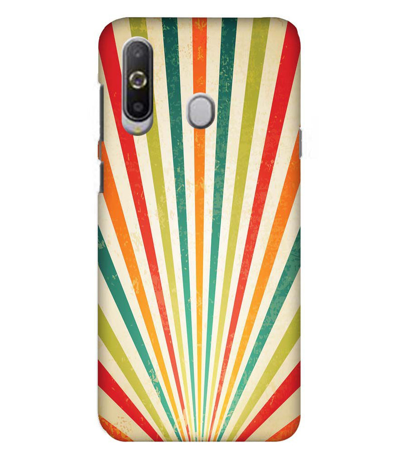 Old Look Pattern Back Cover for Samsung Galaxy A8s