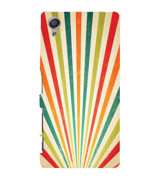 Old Look Pattern Back Cover for Sony Xperia X