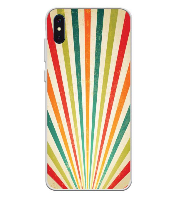 Old Look Pattern Soft Silicone Back Cover for iVoomi i2