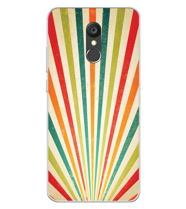 Old Look Pattern Soft Silicone Back Cover for Panasonic Eluga Ray 550