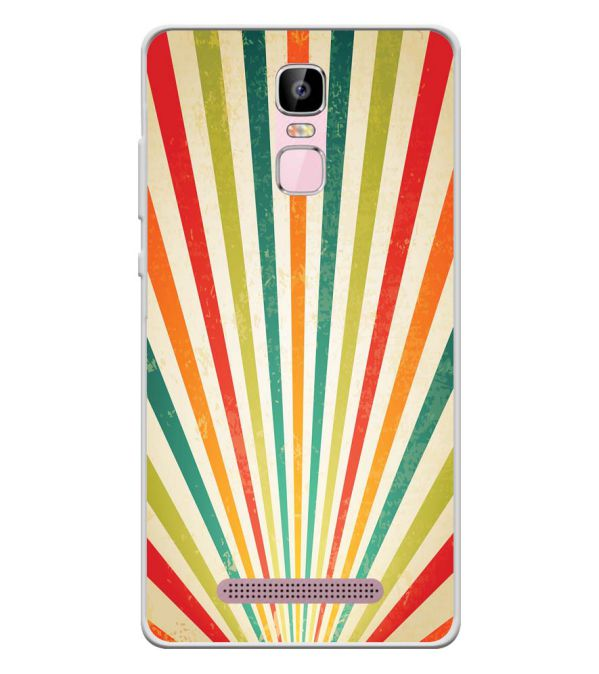 Old Look Pattern Soft Silicone Back Cover for Zen Admire Sense Plus