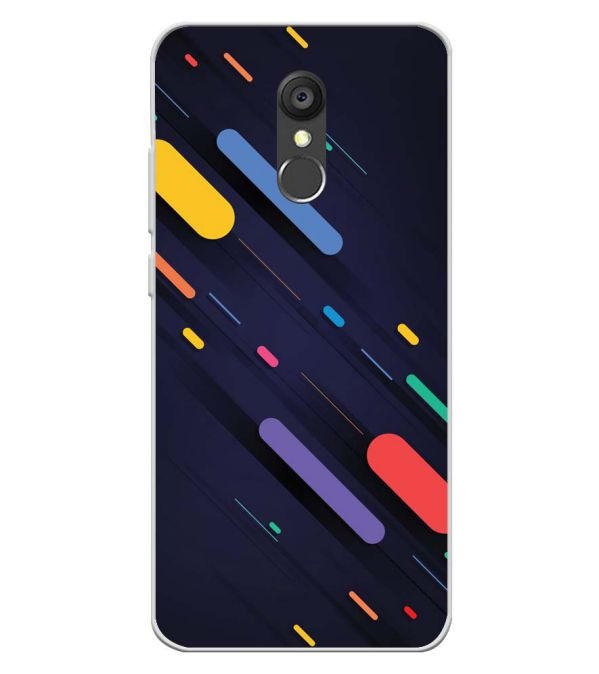 Oval Style Pattern Soft Silicone Back Cover for Panasonic Eluga Ray 550