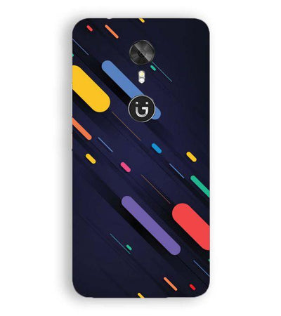 Oval Style Pattern Back Cover for Gionee A1