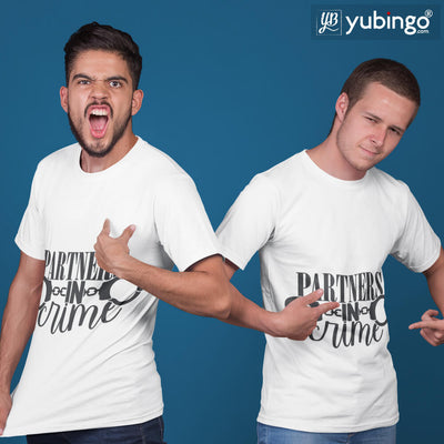 Partners In Crime T-Shirt-White