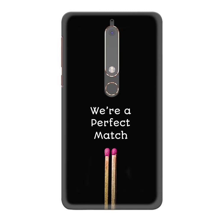 Perfect Match Back Cover for Nokia 6 (2018)