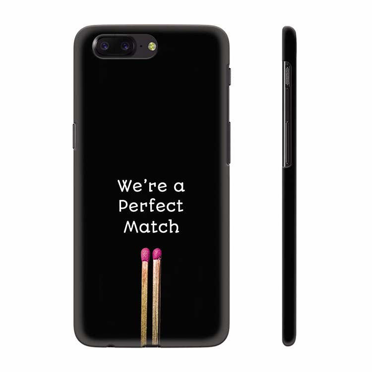 buy popular 18b84 8f3e5 Perfect Match Back Cover for OnePlus 5