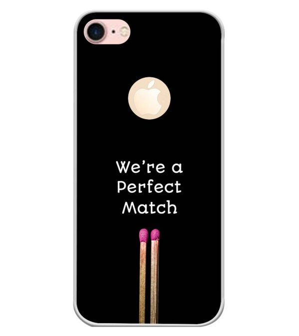 Perfect Match Back Cover for Apple iPhone 7 (Logo)-Image3