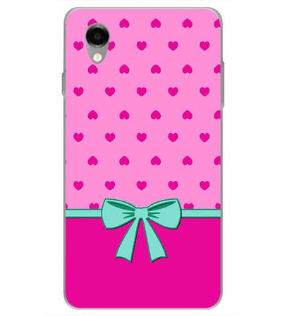 Pink Knot Back Cover for ITEL PWO Pro