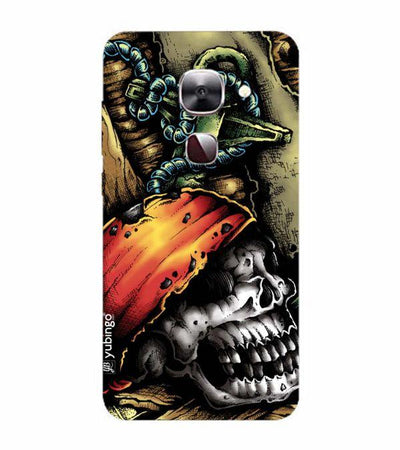 Pirate Skull Back Cover for LeEco Le 2s