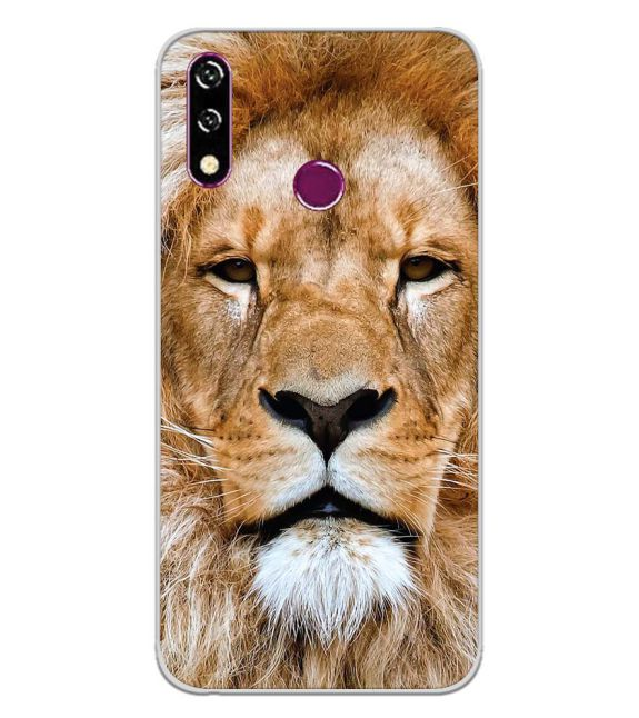 Portrait of Lion Back Cover for LG W10-Image3