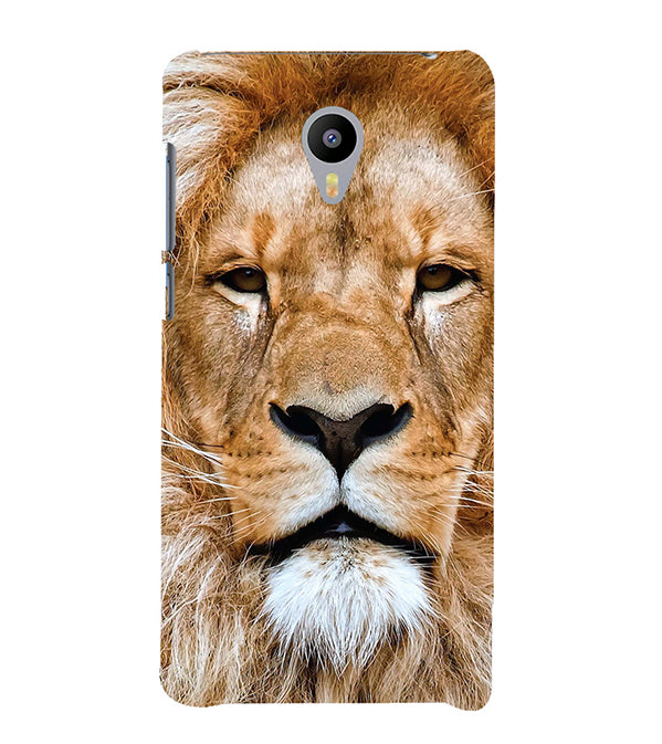 Portrait of Lion Back Cover for Meizu M3 Note