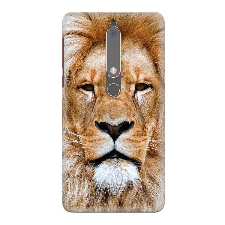Portrait of Lion Back Cover for Nokia 6 (2018)