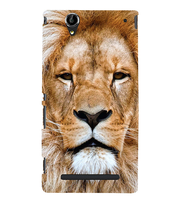 Portrait of Lion Back Cover for Sony Xperia T2