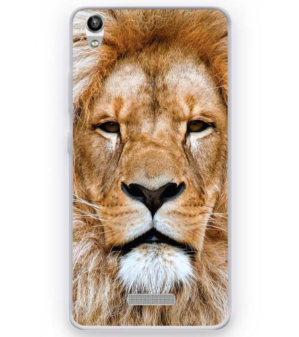 Portrait of Lion Soft Silicone Back Cover for Micromax Canvas Fire Q386