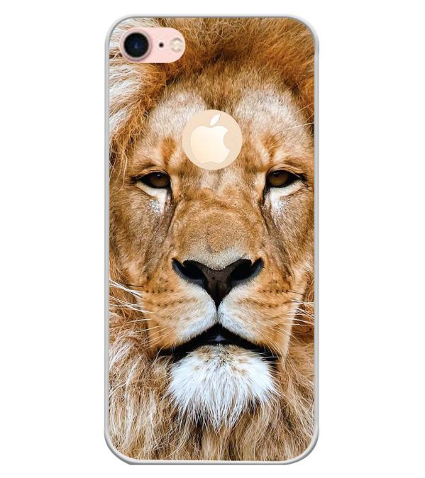 Portrait of Lion Back Cover for Apple iPhone 7 (Logo)-Image3