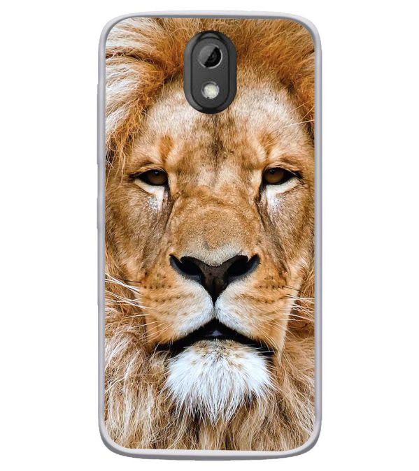 Portrait of Lion Soft Silicone Back Cover for HTC Desire 526