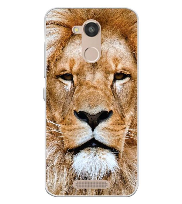 Portrait of Lion Soft Silicone Back Cover for InFocus Turbo 5s