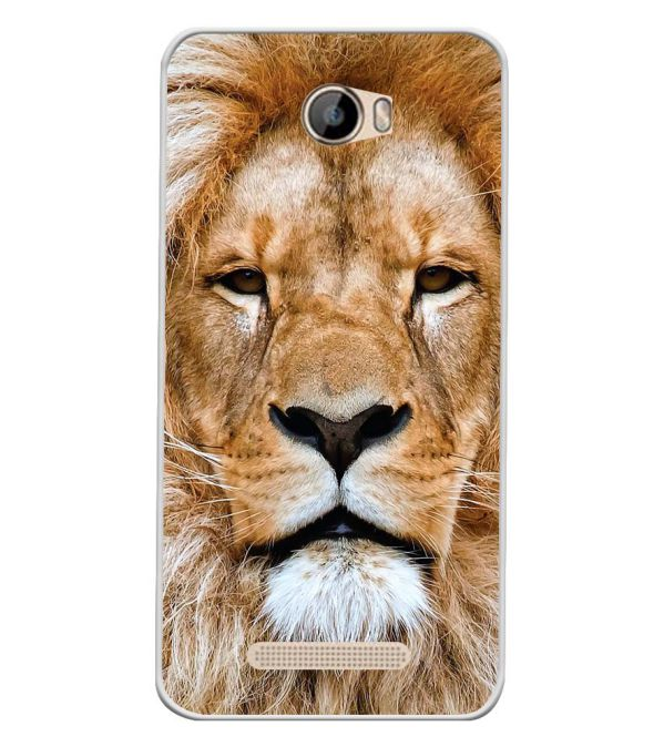 Portrait of Lion Soft Silicone Back Cover for Intex Aqua 5.5 VR