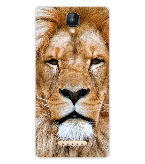 Portrait of Lion Soft Silicone Back Cover for Intex Aqua Lions 2 4G
