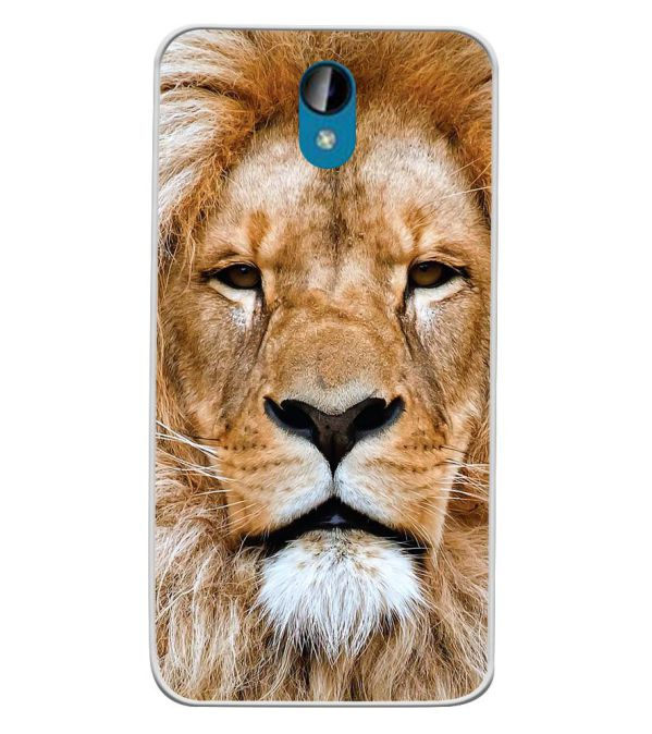 Portrait of Lion Soft Silicone Back Cover for Intex Lions 6