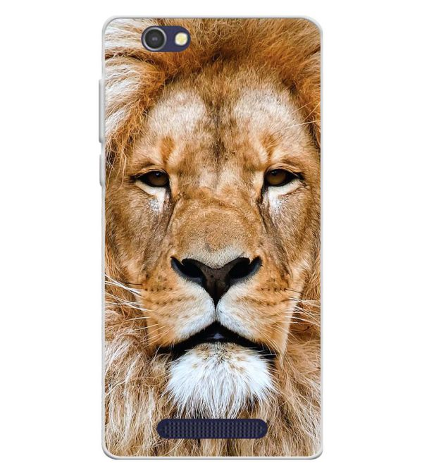 Portrait of Lion Soft Silicone Back Cover for Lava A72