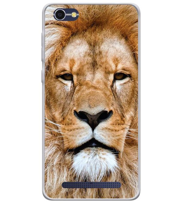 Portrait of Lion Soft Silicone Back Cover for Lava A77