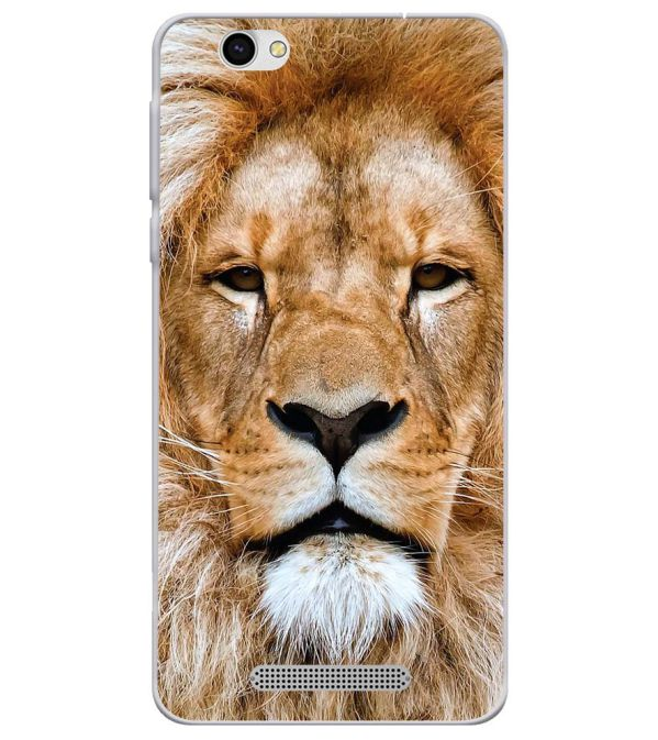 Portrait of Lion Soft Silicone Back Cover for Lava X28
