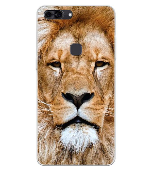 Portrait of Lion Soft Silicone Back Cover for Lava Z90