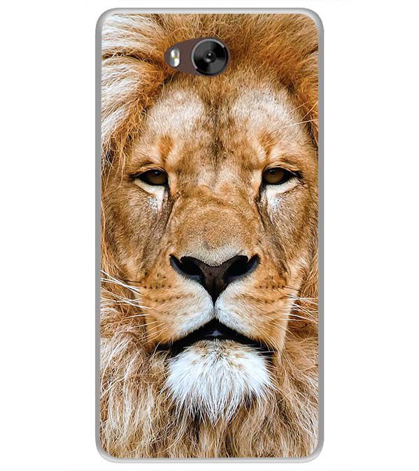 Portrait of Lion Soft Silicone Back Cover for LYF Wind 4s