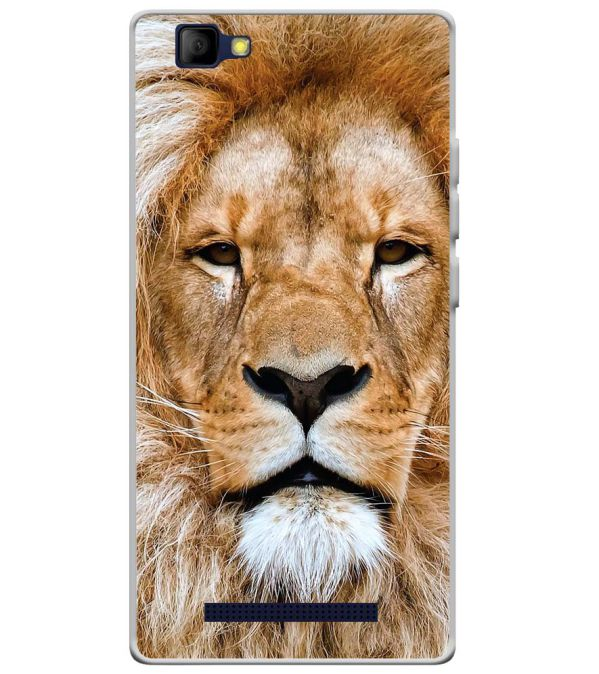 Portrait of Lion Soft Silicone Back Cover for Lyf Wind 7S
