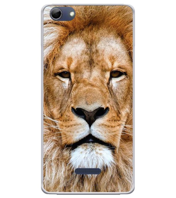 Portrait of Lion Soft Silicone Back Cover for Micromax Selfie 3 Q348