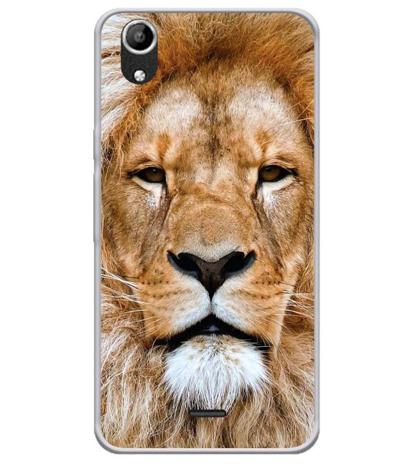 Portrait of Lion Soft Silicone Back Cover for Micromax Selfie Lens Q345