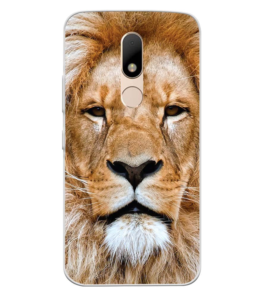 reputable site 6587a a9dbb Portrait of Lion Soft Silicone Back Cover for Motorola Moto M