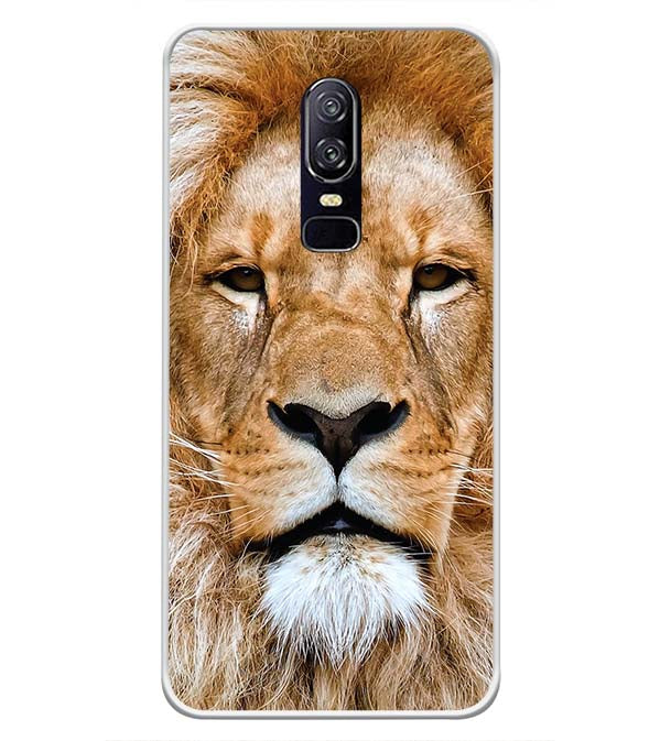 Portrait of Lion Soft Silicone Back Cover for OnePlus 6