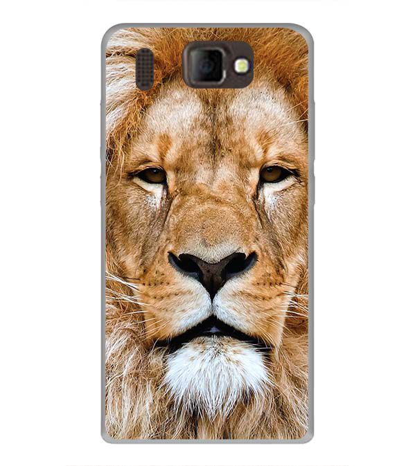 Portrait of Lion Back Cover for Panasonic P66 Mega