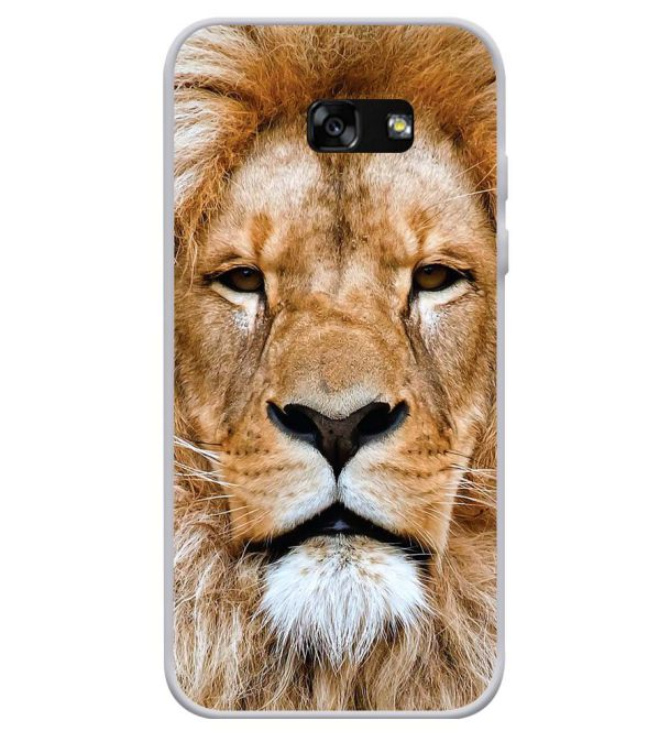 Portrait of Lion Soft Silicone Back Cover for Samsung Galaxy A3 (2017)