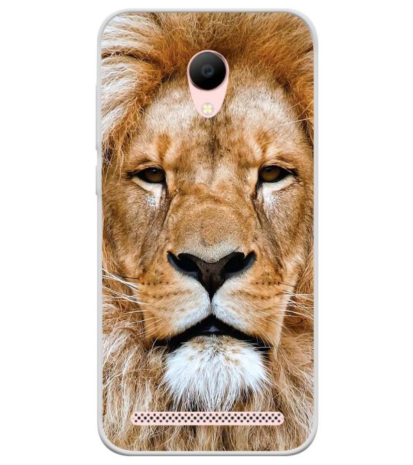 Portrait of Lion Soft Silicone Back Cover for Voto V2