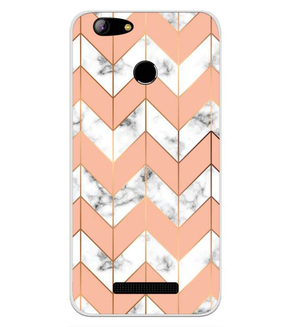Printed Marble Pattern Back Cover for Intex Aqua Lions X1-Image3