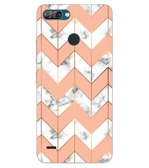 Printed Marble Pattern Back Cover for Itel A46-Image3