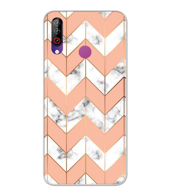 Printed Marble Pattern Back Cover for LG W30-Image3
