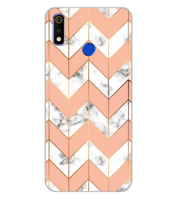 Printed Marble Pattern Back Cover for Realme 3i-Image3