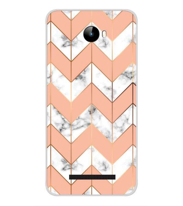 Printed Marble Pattern Back Cover for Intex Staari 11-Image3
