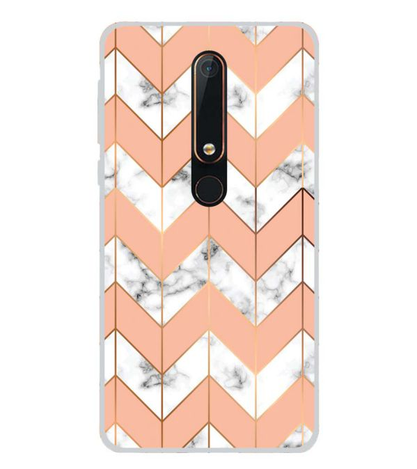 Printed Marble Pattern Back Cover for Nokia 6.1 (2018)-Image3