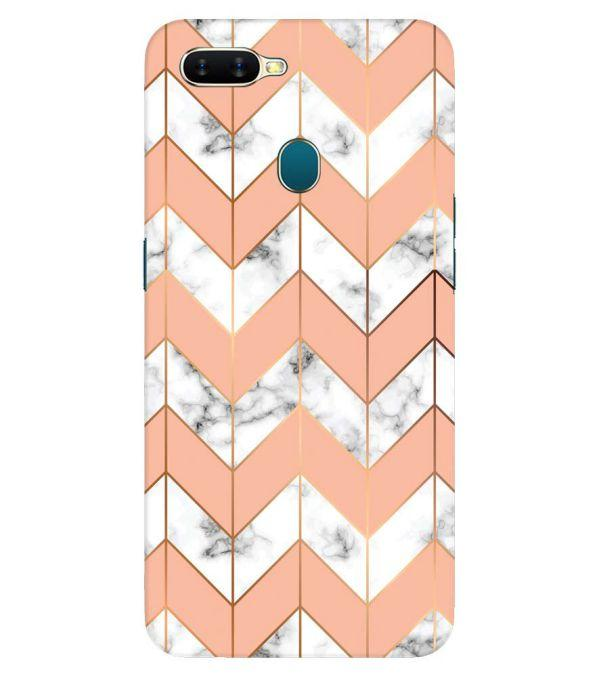 Printed Marble Pattern Back Cover for Oppo A7